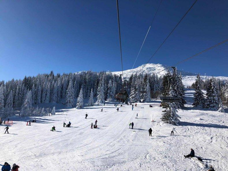 Витоша е пълна със скиори, условията са отлични