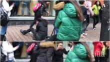 БРУТАЛНА АГРЕСИЯ: Ученички ритат своя връстничка пред столичен мол - очевидци гледат безучастно (ВИДЕО)