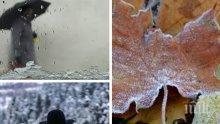 Дъжд и сняг. Жълт код за 5 области в страната (КАРТА)