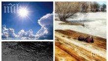 ВРЕМЕТО ПОЛУДЯ: Пролет през януари - термометърът скача до 20 градуса (КАРТА)