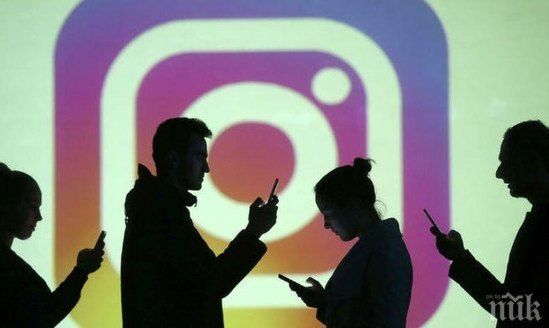 """Срив в работата на """"Инстаграм"""" изправи на нокти милиони ползватели по целия свят"""