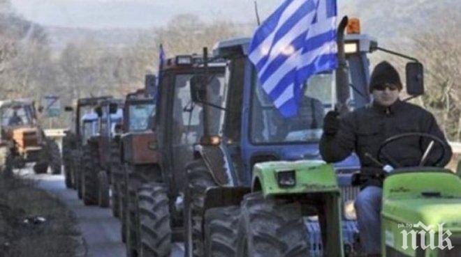 Гръцки фермери вадят тракторите - блокират основни пътища