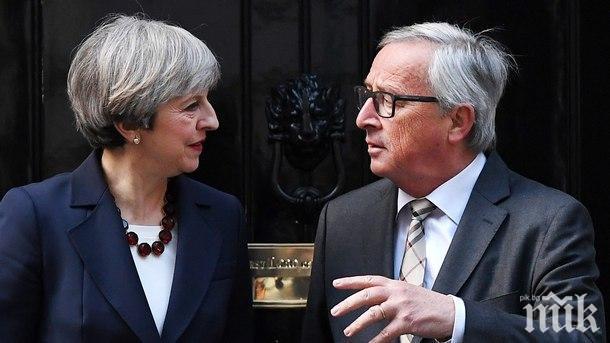 ВАЖЕН ДЕН: Тереза Мей и Жан-Клод Юнкер обсъждат сделката за Брекзит