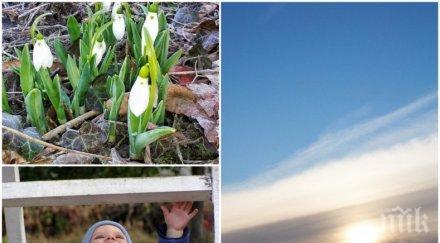 УНИКАЛНО ВРЕМЕ: Синоптиците обещават слънчева събота. Ето къде ще бъде най-топло (КАРТА)