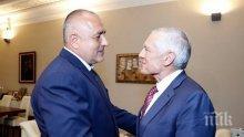 ИЗВЪНРЕДНО В ПИК TV: Борисов лице в лице с ген. Уесли Кларк. Премиерът обсъди борбата с контрабандата с бившия шеф на НАТО (ОБНОВЕНА)