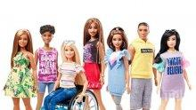 Уникално: Новите кукли Барби в инвалидна количка