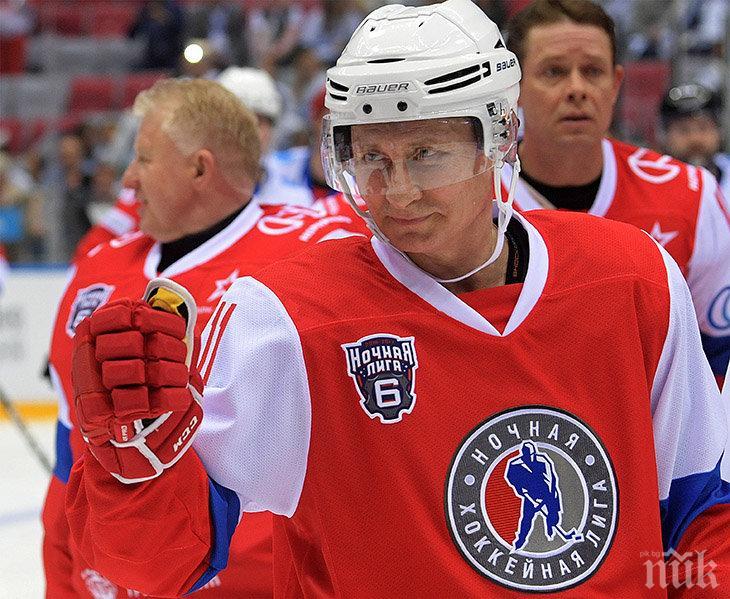 """След края на политическата си кариера Путин """"се вижда"""" като... хокеист"""