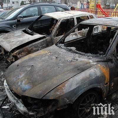 Три коли изгоряха при пожар в автосервиз
