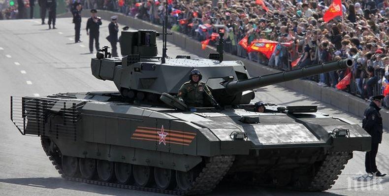 """Супер танкът Т-14 """"Армата"""" влиза в серийно производство"""