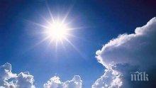 ПРИЯТНА ИЗНЕНАДА: Цял ден ще ни радват слънце и хубаво време. Живакът удря рекордни градуси