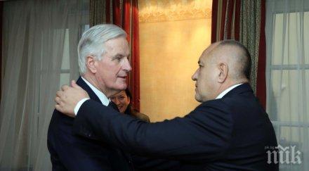 ПЪРВО В ПИК: Премиерът Борисов проведе важна среща с Мишел Барние (СНИМКИ)