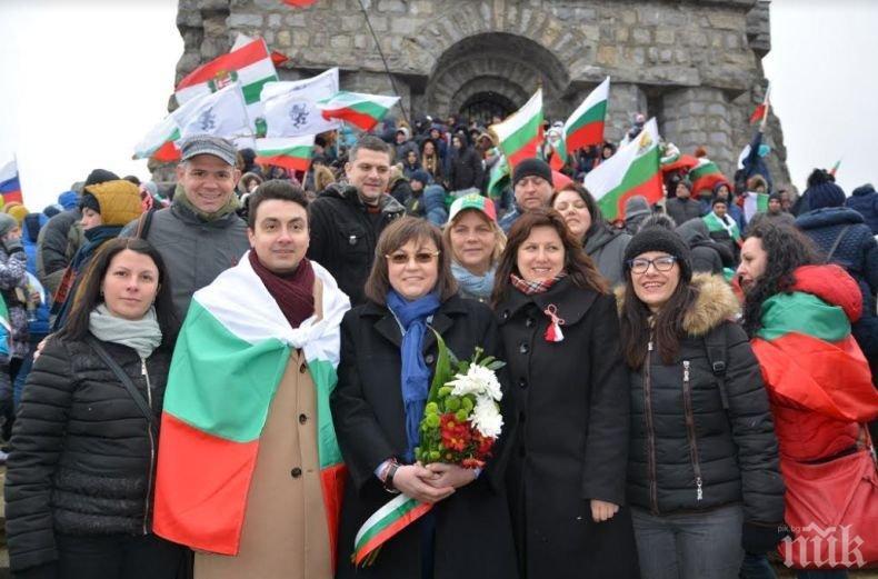 Корнелия Нинова с поздравление към българите от Шипка
