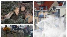 БЕДСТВИЕТО ИДВА! Урагани пометоха покриви и събориха дървета в Централна Европа, има жертва и ранени. Стихията настъпва към България със сняг и дъжд