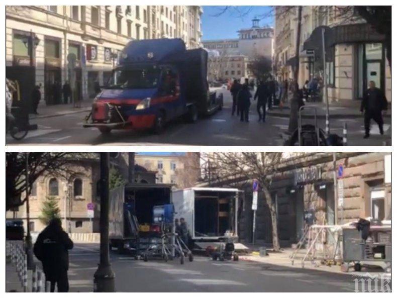 ИЗВЪНРЕДНО В ПИК TV: София блокирана от снимки на филм - ето кои улици са затворени