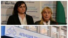 ИЗВЪНРЕДНО В ПИК TV! Корнелия Нинова и Елена Йончева отново на разходка до АПИ - искат експертизи на магистрали. Агенцията: Не ни притесняват никакви проверки (ОБНОВЕНА)