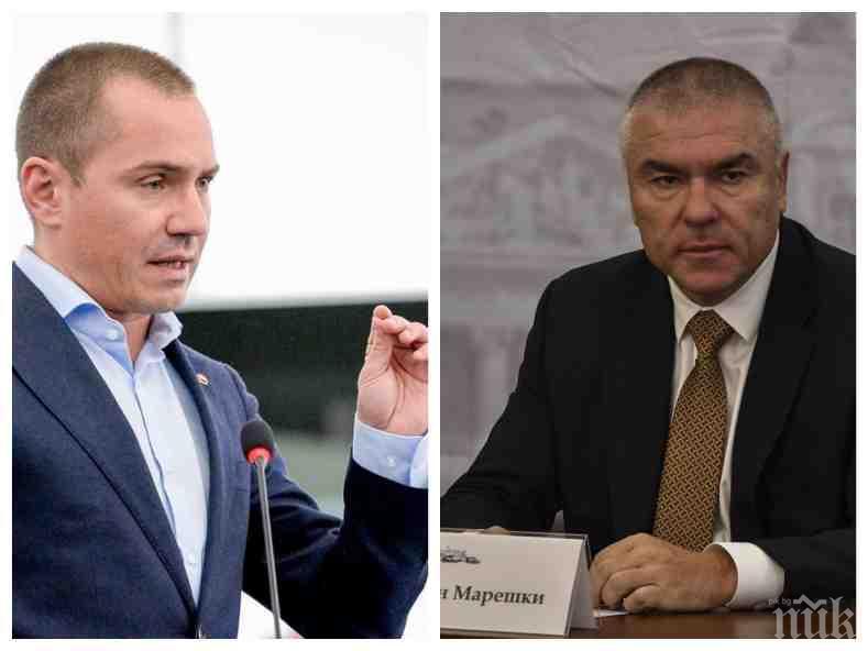 """ЗАДАВА ЛИ СЕ КРИЗА? Евродепутатът Ангел Джамбазки изригна пред ПИК: Марешки блъфира. Мястото и на """"Воля"""", и на лицемерите от БСП е вън от парламента"""