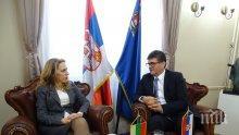 Вицепремиерът Марияна Николова и сръбският й колега Ляйч обсъдиха задълбочаването на икономическото сътрудничество
