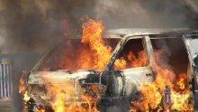 """ИЗВЪНРЕДНО: Огнен ад на магистрала """"Тракия""""! Кола пламна като факла  (СНИМКИ)"""