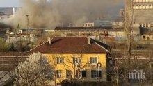 Голям пожар вилнее в цех във Враца (СНИМКА)