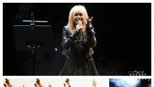 """НЯМА ДА СЕ СПРЕ: Лили Иванова с минижуп на наградите """"Икар"""" - лъснаха черните гащета на 80-годишна звезда  (СНИМКИ)"""