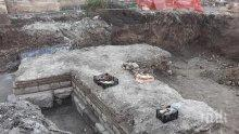 Нови находки при портата на древния Одесос в центъра на Варна