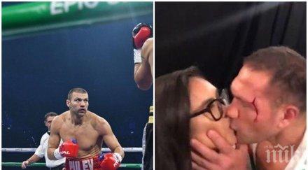 Малката Кобра удари по масата, ето какво стори Тервел Пулев след целувката между Кубрат и репортерката Равало