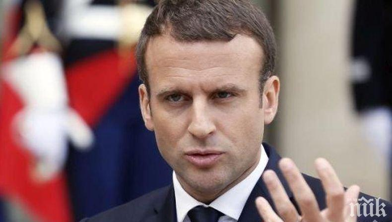 Макрон: ЕС не може да бъде държан като заложник на Брекзит