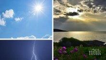 НЕДЕЛНА ПАЛИТРА: Идват облаци и дъжд с гръмотевици, температурите падат под 4°, но после слънцето пробива плахо