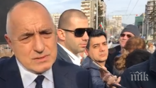 """Премиерът Борисов се среща с протестиращите срещу небостъргача """"Златен век"""""""
