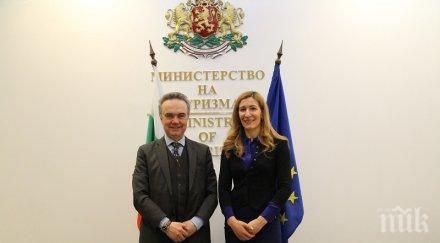 Ангелкова поиска сътрудничество с Италия в туризма