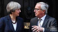 """""""Таймс"""": Тереза Мей успокои ЕС, че ще остане на премиерския пост до гласуване на споразумението за Брекзит"""