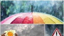 ДЪЖДОВЕН УИКЕНД: Тъмни облаци, гръмотевици и вятър ще ни мъчат, температурите ще стигнат до 17 градуса