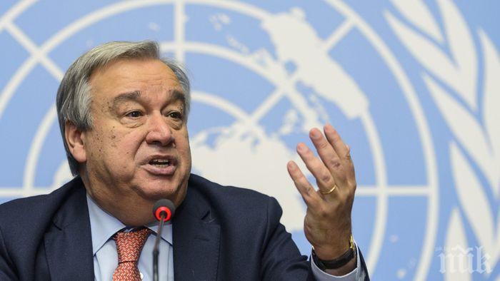 Генералният секретар на ООН призова за прекратяване на кръвопролитията в Либия