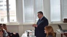 """Главният прокурор Сотир Цацаров се срещна с ученици от 91 НЕГ""""Проф. Константин Гълъбов"""""""