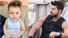 ЛИКА ПРИЛИКА: Синът на Фики заформи перчем като баща си (СНИМКА)