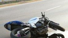 БЕЗУМИЕ: Летящ моторист помете момиче на пешеходна пътека във Варна (СНИМКИ)