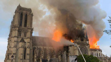 """Ватиканът е шокиран от пожара в """"Нотр дам"""""""