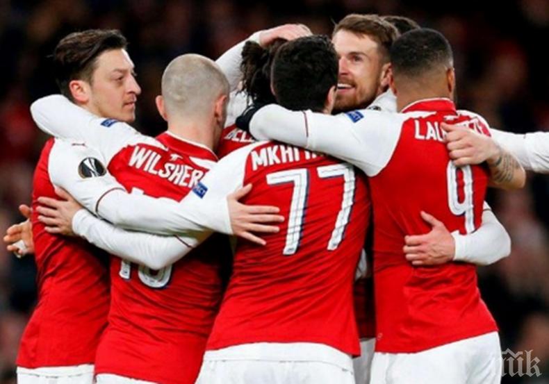 """Арсенал с важен успех в битката за """"Топ 4"""" в Англия"""