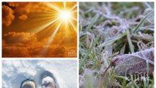 АПРИЛСКИ КАПРИЗИ: В ниските части на България ще е слънчево, по високите - слана и сняг
