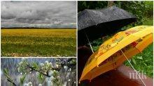 ХЛАДНА И ОБЛАЧНА СЪБОТА: Носете си чадърите, ще вали - ето къде (КАРТА)