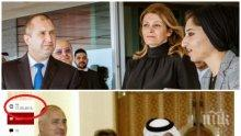 САМО В ПИК: Радев на спявка с БСП и ДПС – фука се с успехите на Борисов от Катар. Жена му Десислава мъкне куфари с дрехи от чутовен шопинг в емирството (СНИМКИ)