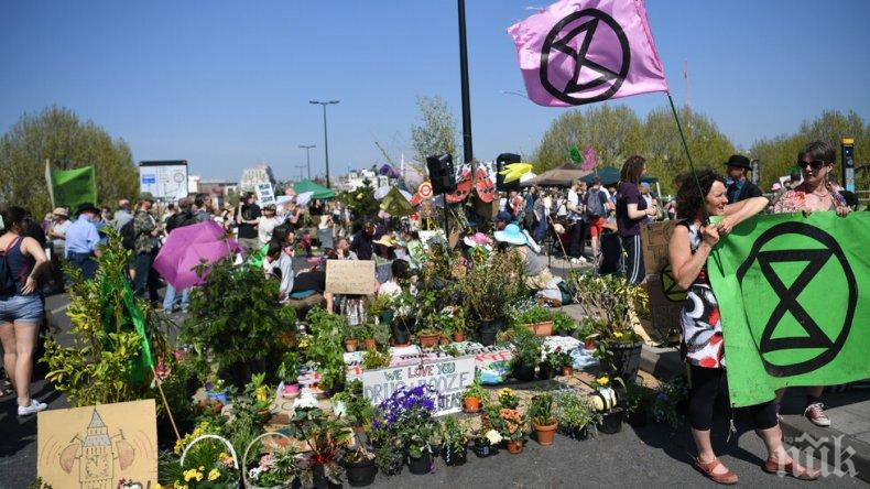Арестуваха екоактивисти в Лондон