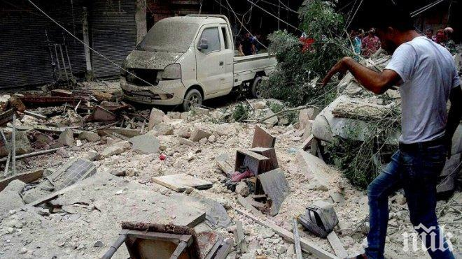 """В сирийската провинция Хама е заснета """"постановка със смъртта на семейство"""" заради използване на химическо оръжие"""