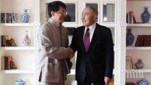 Президентът на Казахстан се срещна с Джеки Чан