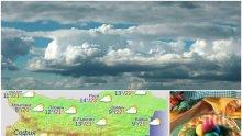 НА ВЕЛИКДЕН: Облаци крият слънцето - празникът ще мине без валежи (КАРТА)