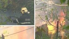 Четири екипа огнеборци гасиха пожар във Варна