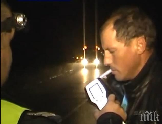Закопчаха шофьор с над 3 промила алкохол в кръвта във Вършец