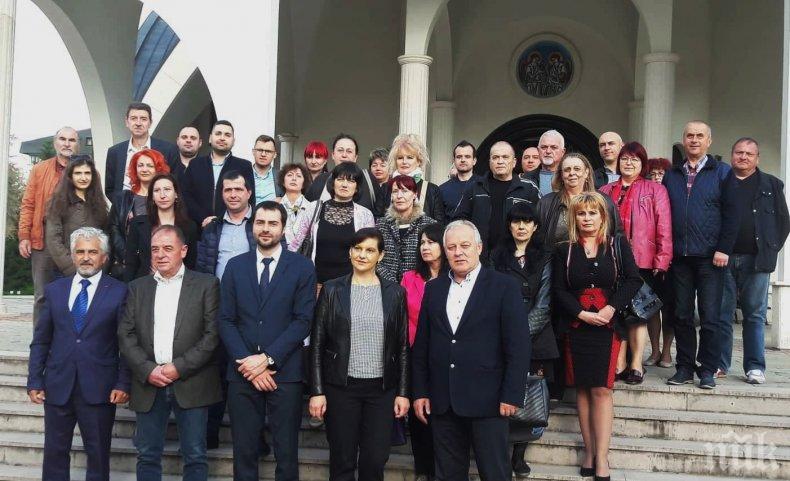 С молебен за здраве и успех ГЕРБ-Смолян откри кампанията си за евроизборите