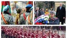 ИЗВЪНРЕДНО В ПИК TV: ГЕРГЬОВДЕН Е! Осветиха бойните знамена на Българската армия. Президентът Радев положи венец пред паметника на Незнайния воин (СНИМКИ/ОБНОВЕНА)