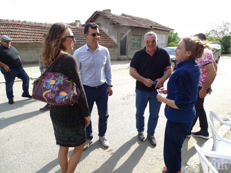 Кандидатът за евродепутат Асим Адемов и народният представител Ася Пеева посетиха села в община Руен